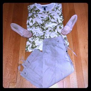 Eddie Bauer cargo pants all cotton size 8